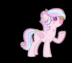 Size: 856x749 | Tagged: safe, artist:chaoscy, oc, oc only, oc:pink sky, angel pony, original species, pegasus, pony, angel, female, heterochromia, mare, markings, raised hoof, simple background, solo, tattoo, transparent background