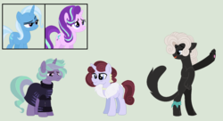 Size: 1498x814 | Tagged: adopted offspring, artist:mplbasemaker33, female, lesbian, magical lesbian spawn, offspring, parents:startrix, parent:starlight glimmer, parent:trixie, safe, shipping, starlight glimmer, startrix, trixie