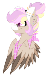 Size: 1877x2953 | Tagged: artist:crazysketch101, bandana, barbell piercing, bust, commission, ear piercing, earring, female, gauges, jewelry, oc, oc only, pegasus, piercing, pony, safe, simple background, smiling, solo, transparent background, white background, wings