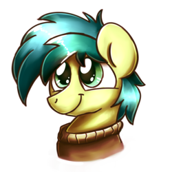 Size: 2048x2048 | Tagged: safe, artist:sugar morning, sandbar, earth pony, pony, bust, clothes, cute, male, portrait, sandabetes, simple background, solo, stallion, sweater, transparent background