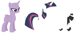 Size: 1016x460 | Tagged: alicorn, artist:janethepegasus, base, clone, clothes, female, hoof wraps, mare, mean twilight sparkle, pony, safe, scarf, simple background, solo, twilight sparkle, twilight sparkle (alicorn), unamused, white background