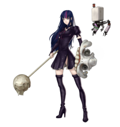 Size: 1822x1920 | Tagged: artist:amarthgul, boots, clothes, crossover, female, high heel boots, human, humanized, nier: automata, robot, safe, shoes, simple background, solo, transparent background, twilight sparkle, twilight sparkle (alicorn), video game crossover