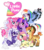 Size: 1700x1950 | Tagged: safe, artist:unoriginai, angel bunny, applejack, fluttershy, pinkie pie, rainbow dash, rarity, twilight sparkle, changeling, changepony, deer, donkey, earth pony, hummingbird, hybrid, jackalope, pegasus, pony, rabbit, unicorn, alternate design, alternate hairstyle, animal, applejack (g5 concept leak), cute, earth pony twilight, fluttershy (g5 concept leak), g5 concept leak style, g5 concept leaks, generation leap, logo, mane six, mane six (g5), mane six opening poses, pegasus pinkie pie, pinkie pie (g5 concept leak), race swap, rainbow dash (g5 concept leak), rarity (g5 concept leak), simple background, species swap, transparent background, twilight sparkle (g5 concept leak), unicorn fluttershy