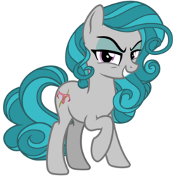 Size: 3200x3200   Tagged: safe, alternate version, artist:cheezedoodle96, idw, swift foot, earth pony, pony, spoiler:comic, spoiler:comicfeatsoffriendship01, .svg available, cutie mark, evil, evil grin, eyeshadow, female, filly, grin, idw showified, lidded eyes, looking at you, makeup, mare, raised hoof, simple background, smiling, solo, svg, teenager, transparent background, vector