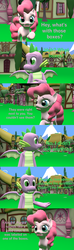 Size: 1920x6480 | Tagged: 3d, artist:papadragon69, choose your own adventure, comic, comic:spike's cyosa, dragon, fourth wall, older, older spike, pinkie pie, safe, source filmmaker, spike, teenager, teenage spike, winged spike