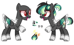 Size: 1414x862   Tagged: safe, artist:manella-art, oc, oc:leon, pegasus, pony, bald, colored pupils, female, magical lesbian spawn, mare, offspring, parent:derpy hooves, parent:rainbow dash, parents:derpydash, simple background, solo, transparent background, two toned wings, wings