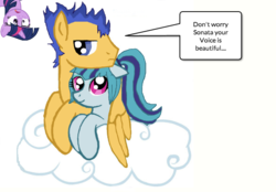 Size: 663x461 | Tagged: artist:lolinontot, cloud, female, flash sentry, implied flashlight, implied shipping, implied straight, male, on a cloud, pegasus, pony, safe, senata, shipping, sonata dusk, straight, twilight sparkle