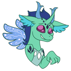 Size: 898x890 | Tagged: safe, artist:andy-hazards, oc, oc:onyx, hybrid, bust, dragonling, interspecies offspring, offspring, parent:princess ember, parent:thorax, parents:embrax, portrait, simple background, solo, transparent background