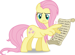 Size: 5717x4188 | Tagged: safe, artist:frownfactory, fluttershy, pegasus, pony, she talks to angel, .svg available, female, frazzled, frazzled hair, list, mare, simple background, solo, svg, transparent background, vector, wing hands, wings