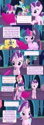 Size: 1920x5400 | Tagged: 3d, adult, adult spike, age progression, age regression, alicorn, applejack, artist:red4567, book, comic, comic:i must regress, dragon, female, filly, filly fluttershy, filly pinkie pie, filly rainbow dash, filly rarity, fluttershy, horn, male, mane six, older, older spike, pinkie pie, ponies riding dragons, quadrupedal spike, rainbow dash, rarity, riding, safe, source filmmaker, spell gone wrong, spike, starlight glimmer, twilight's castle, twilight sparkle, twilight sparkle (alicorn), winged spike, younger