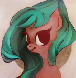Size: 781x800   Tagged: safe, artist:maaronn, oc, oc only, pony, bust, limited palette, portrait, solo