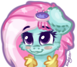 Size: 1500x1300 | Tagged: artist:kindny-chan, bust, kerfuffle, pony, portrait, rainbow roadtrip, safe, simple background, solo, spoiler:rainbow roadtrip, transparent background