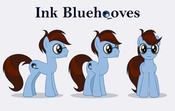 Size: 1323x842 | Tagged: safe, artist:culu-bluebeaver, oc, oc only, oc:bluehooves, earth pony, pony, brown eyes, cutie mark, glasses, male, reference, reference sheet, simple background, stallion