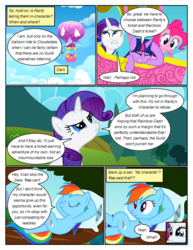 Size: 612x792 | Tagged: arms behind head, artist:newbiespud, cloud, comic, comic:friendship is dragons, confused, crossed legs, crying, dialogue, earth pony, edited screencap, eyes closed, female, flying, hot air balloon, looking up, mare, pegasus, pillow, pinkie pie, pony, rainbow dash, rarity, relaxing, safe, screencap, screencap comic, sleeping, starry eyes, tree, twilight sparkle, unicorn, unicorn twilight, wingding eyes