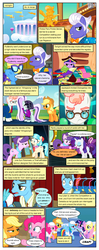 Size: 612x1553 | Tagged: safe, artist:newbiespud, edit, edited screencap, screencap, applejack, coco pommel, coloratura, fluttershy, gladmane, pinkie pie, rainbow dash, rarity, suri polomare, svengallop, twilight sparkle, wind rider, earth pony, pegasus, pony, unicorn, comic:friendship is dragons, rarity investigates, rarity takes manehattan, sonic rainboom (episode), the mane attraction, viva las pegasus, angry, book, bowtie, clothes, cloudsdale, comic, confused, dialogue, female, freckles, frown, glasses, hat, horn, horn impalement, male, mane six, mare, necktie, raised hoof, rearing, scarf, screencap comic, see-through, stallion, statue, suit, surprised, unicorn twilight, weather factory uniform, wide eyes