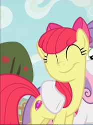 Size: 661x885 | Tagged: safe, screencap, apple bloom, sweetie belle, earth pony, pony, unicorn, growing up is hard to do, adorabloom, cropped, cute, cutie mark, eyes closed, female, hug, mare, offscreen character, older, older apple bloom, older sweetie belle, smiling, solo focus, the cmc's cutie marks