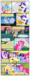 Size: 612x1553 | Tagged: applejack, artist:newbiespud, background pony, bowtie, clothes, comic, comic:friendship is dragons, croquet, croquet mallet, dialogue, dress, earth pony, edited screencap, eyes closed, female, fluttershy, freckles, grin, hat, hoof shoes, hot air balloon, looking up, male, mane six, mare, monocle, mouth hold, necktie, on back, pegasus, pinkie pie, pony, rainbow dash, raised hoof, rarity, s5 starlight, safe, sapphire shores, screencap, screencap comic, smiling, stallion, starlight glimmer, suit, sun hat, surprised, top hat, twilight sparkle, unicorn, unicorn twilight, wide eyes, worried