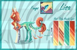 Size: 4626x3000 | Tagged: amputee, artist:sugaryicecreammlp, earth pony, fangs, female, mare, oc, oc:lisa, pony, prosthetic leg, prosthetic limb, prosthetics, reference sheet, safe, solo