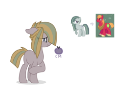 Size: 2372x1776   Tagged: safe, artist:dogpawls, big macintosh, marble pie, oc, pony, female, male, marblemac, offspring, parent:big macintosh, parent:marble pie, parents:marblemac, shipping, straight