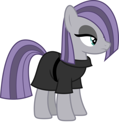 Size: 4500x4619 | Tagged: alternate character interpretation, artist:slb94, earth pony, female, goth, hair over one eye, mare, maud pie, pony, safe, simple background, solo, transparent background, vector