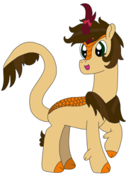 Size: 2448x3264 | Tagged: artist:supahdonarudo, kirin, kirin-ified, leonine tail, oc, oc:daylit inquiry, oc only, safe, simple background, species swap, transparent background