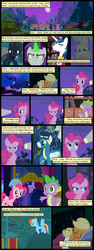 Size: 600x1592 | Tagged: alicorn, alicorn amulet, alternate eye color, angry, annoyed, applejack, artist:dragontrainer13, artist:newbiespud, bags under eyes, bat ponified, bat pony, bed, clothes, collaboration, comic, comic:friendship is dragons, dialogue, dragon, earth pony, edited screencap, ethereal mane, eyes closed, facepalm, fangs, female, flag, flashlight (object), flutterbat, fluttershy, flying, full moon, glowing horn, goggles, hoof shoes, horn, inspiration manifestation, male, mane seven, mane six, mare, mind control, moon, night, pegasus, pinkie pie, pony, prehensile mane, princess luna, race swap, rainbow dash, raised hoof, rarity, safe, screencap, screencap comic, shining armor, sleeping, slit eyes, smiling, soarin', spike, stallion, starry mane, stars, thumbs down, trixie, twilight sparkle, unicorn, unicorn twilight, uniform, upside down, wonderbolts, wonderbolts uniform