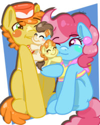 Size: 2400x3000 | Tagged: artist:koharuveddette, baby, baby cakes, baby pony, cake family, cake twins, carrot cake, colt, cup cake, cute, earth pony, family, female, filly, foal, male, mare, pegasus, pony, pound cake, pumpkin cake, safe, siblings, smiling, stallion, twins, unicorn