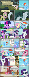 Size: 600x1592 | Tagged: artist:dragontrainer13, artist:newbiespud, bowtie, cape, clothes, collaboration, comic, comic:friendship is dragons, confused, crossed arms, dialogue, doctor whooves, dragon, earth pony, edited screencap, face down ass up, female, fluttershy, flying, glowing horn, grin, horn, male, mare, pegasus, petrification, pinkie pie, pony, rainbow dash, rarity, safe, screencap, screencap comic, shocked, slit eyes, smiling, spike, stallion, thinking, time turner, trixie, twilight sparkle, unicorn, unicorn twilight, worried