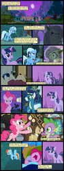Size: 600x1592 | Tagged: alicorn amulet, angry, artist:dragontrainer13, artist:newbiespud, bat ponified, bat pony, clothes, collaboration, comic, comic:friendship is dragons, dialogue, earth pony, edited screencap, female, flashlight (object), flutterbat, fluttershy, flying, glare, goggles, grin, lamp, male, mare, pinkie pie, pony, ponyville, prehensile mane, race swap, rainbow dash, raised hoof, safe, screencap, screencap comic, sleeping, slit eyes, smiling, soarin', spike, stallion, tree, trixie, twilight sparkle, unicorn, unicorn twilight, uniform, wide eyes, wonderbolts, wonderbolts uniform