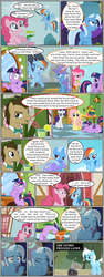 Size: 600x1592 | Tagged: artist:dragontrainer13, artist:newbiespud, bendy straw, bowtie, cape, clothes, collaboration, comic, comic:friendship is dragons, derp, dialogue, doctor whooves, drinking, earth pony, edited screencap, eyes closed, facehoof, female, flying, frown, glowing horn, hat, hoof in mouth, horn, looking down, magic, male, mare, pickaxe, pinkie pie, plant, plant pot, pony, rainbow dash, safe, screencap, screencap comic, smiling, stallion, suspicious, telekinesis, time turner, twilight sparkle, unicorn, unicorn twilight, wizard hat, worried