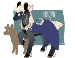 Size: 1280x1000 | Tagged: safe, artist:alabasterpeony, oc, oc only, oc:pinecone, earth pony, pony, ponyfinder, cape, clothes, coat markings, druid, dungeons and dragons, fantasy class, female, looking at you, mare, pen and paper rpg, raised hoof, rpg, simple background, smiling, solo, transparent background, unshorn fetlocks