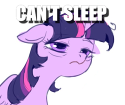 Size: 461x388 | Tagged: alicorn, artist:luciferamon, caption, edit, image macro, insomnia, safe, solo, text, tired, twilight sparkle, twilight sparkle (alicorn)