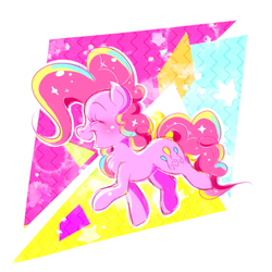 Size: 512x512 | Tagged: artist:tamabel, chest fluff, eyes closed, happy, pinkie pie, pony, safe, smiling, solo