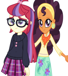 Size: 422x474 | Tagged: crack shipping, equestria girls, equestria girls-ified, female, lesbian, moondancer, safe, saffron masala, shipping, wrong aspect ratio