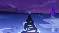 Size: 3200x1800 | Tagged: artist:aaronmk, crystal, crystal empire, night, no pony, offscreen character, pov, railroad, safe, scenery, snow, television, train, vector
