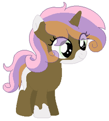 Size: 266x295 | Tagged: artist:nightcorecat123, base used, female, filly, oc, offspring, parent:button mash, parents:sweetiemash, parent:sweetie belle, pony, safe, simple background, unicorn, white background