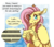 Size: 1344x1152 | Tagged: safe, artist:inuhoshi-to-darkpen, fluttershy, pony, she talks to angel, blushing, cute, ear fluff, ear tufts, embarrassed, feathered fetlocks, female, fluffy, implied discord, implied discoshy, implied rarity, implied shipping, implied straight, internal screaming, offscreen character, shyabetes, solo, speech bubble, thought bubble, unshorn fetlocks, wing claws