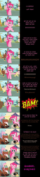 Size: 2000x8800 | Tagged: safe, artist:mlp-silver-quill, fluttershy, pinkie pie, trouble shoes, earth pony, pegasus, pony, comic:pinkie pie says goodnight, banana, banana peel, barrel, comic, cute, falling, food, friday the 13th, hide, screaming, shyabetes