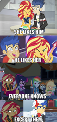 Size: 766x1626 | Tagged: all good (song), applejack, bulk biceps, caption, cheer you on, edit, edited screencap, eqg summertime shorts, equestria girls, equestria girls series, female, flashimmer, flash sentry, geode of super speed, geode of super strength, geode of telekinesis, good vibes, holidays unwrapped, image macro, lyra heartstrings, magical geodes, male, offscreen character, rainbow dash, safe, sci-twi, screencap, shipping, snips, spoiler:eqg series (season 2), spring breakdown, straight, sunset shimmer, text, trixie, twilight sparkle