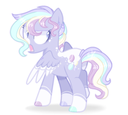Size: 1468x1324 | Tagged: artist:6-fingers-lover, female, magical lesbian spawn, mare, oc, oc:pastel quartz, offspring, parent:rainbow dash, parent:rarity, parents:raridash, pegasus, pony, safe, simple background, solo, transparent background, two toned wings, wings