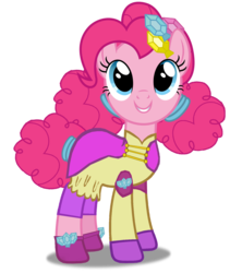 Size: 1731x2048 | Tagged: alternate hairstyle, artist:sunsetshimmer333, clothes, crystal guardian, cute, diapinkes, earth pony, equestria girls, equestria girls ponified, female, hoof shoes, legend of everfree, leggings, mare, pinkie pie, ponified, pony, safe, shoes, simple background, smiling, solo, transparent background, vector
