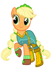 Size: 1973x2820 | Tagged: alternate hairstyle, applejack, artist:sunsetshimmer333, boots, clothes, crystal guardian, cute, dress, earth pony, equestria girls, equestria girls ponified, female, gloves, jackabetes, legend of everfree, mare, ponified, pony, raised hoof, safe, shoes, simple background, socks, solo, transparent background, vector