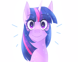 Size: 1000x800 | Tagged: safe, artist:waterz-colrxz, twilight sparkle, pony, what lies beneath, bust, cute, looking at you, portrait, simple background, solo, treelight sparkle, treelightbetes, white background
