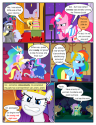 Size: 612x792 | Tagged: alicorn, angry, applejack, artist:newbiespud, background pony, cake, cart, clothes, comic, comic:friendship is dragons, dialogue, dress, earth pony, edit, edited screencap, ethereal mane, eyes closed, female, flower, fluttershy, food, frown, gala dress, glare, grin, gritted teeth, hat, hoof shoes, jewelry, laurel wreath, looking back, male, mare, microphone, necklace, pearl necklace, pegasus, pinkie pie, pony, princess celestia, rainbow dash, rarity, safe, screencap, screencap comic, smiling, spread wings, squirrel, stallion, thinking, tiara, top hat, twilight sparkle, unicorn, unicorn twilight, vase, wings