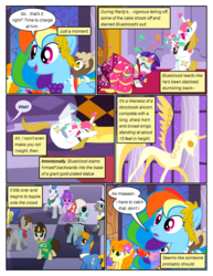 Size: 612x792 | Tagged: alicorn, artist:newbiespud, background pony, background pony audience, bowtie, carrot top, clothes, comic, comic:friendship is dragons, dialogue, diamond mint, dress, earth pony, edited screencap, falling, female, flower, flower in hair, gala dress, golden harvest, jewelry, laurel wreath, looking up, male, mare, necktie, pegasus, pony, prince blueblood, rainbow dash, raised hoof, rarity, rearing, safe, scared, screencap, screencap comic, shaking, stallion, statue, surprised, tiara, unicorn, unshorn fetlocks, wide eyes