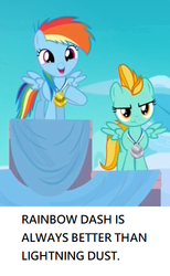 Size: 318x516 | Tagged: cropped, edit, edited screencap, female, filly, filly lightning dust, filly rainbow dash, lightning dust, op is a duck, op is trying to start shit, parental glideance, pony, rainbow dash, safe, screencap, younger