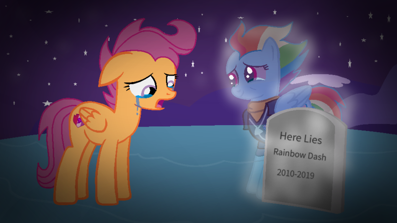 2144609 Safe Rainbow Dash Scootaloo Ghost Pegasus Pony The Last Problem Base Used Clothes Crying Dead End Of Ponies Female Future Grave Mare Older Older Rainbow Dash Older Scootaloo Sad Soul Bronies for good member, streamer, creator of things and stuff and part time cool person! safe rainbow dash scootaloo ghost