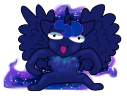 Size: 3096x2400 | Tagged: artist:livitoza, chest fluff, furry, pony, princess luna, safe, simple background, solo, tongue out, white background