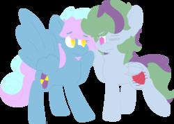 Size: 1973x1414   Tagged: safe, artist:moonydusk, oc, oc:astral knight, oc:serene winds, pony, female, male, mare, present, simple background, stallion, transparent background