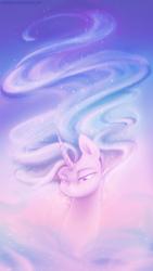 Size: 1080x1920 | Tagged: safe, artist:jadekettu, princess celestia, pony, unicorn, beautiful, ethereal mane, female, long mane, solo